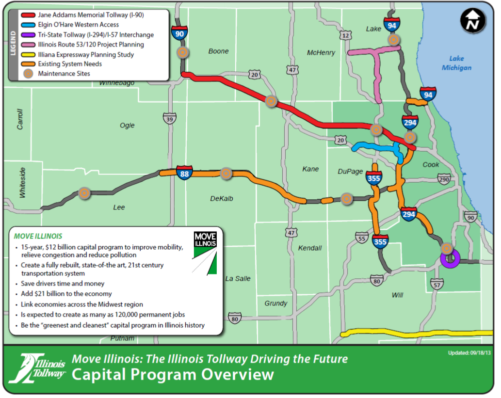 Case Stus | INVEST - Sustainable Highways Self-Evaluation Tool ... Illinois Tollway Construction Map on chicago construction, illinois interchange construction, illinois bridge construction, illinois highway construction, illinois road construction,